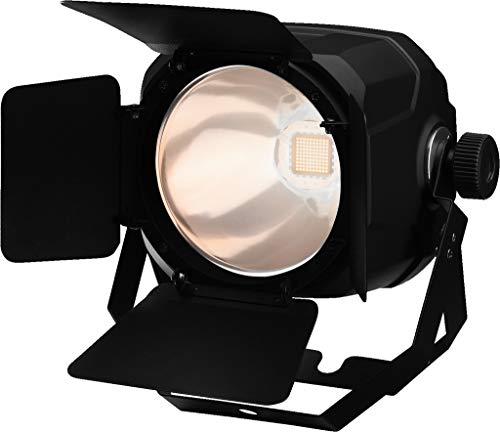 IMG STAGELINE PARC-100E/WWS COB-LED-schijnwerper, spotlight met 5 verschillende dimmerkorven inclusief deurscherm, zwart