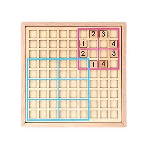 MNJM Sudoku de madera Puzzle Niños Juguetes educativos Juegos de inteligencia de escritorio para adultos