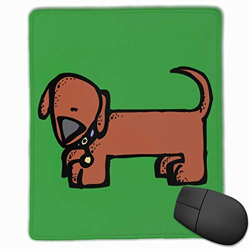 Office Mouse Pad Niedliche Weiner Dog Logo Rechteck Gummi Mousepad Gaming Mouse Pad mit schwarzer Verriegelungskante