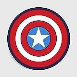 Lily&her friends – Alfombra Redonda de Terciopelo con diseño de Capitán América y Pentagrama, Capitán América, Diameter: 100cm