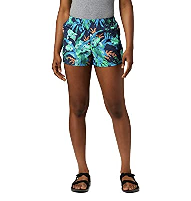 Columbia womens Sandy River Ii Printed Short, Breathable, Sun Protection Casual Shorts, Nocturnal Magnolia Print, Small x 5 Inseam US