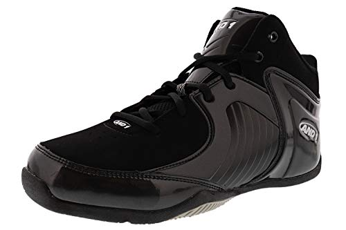 AND1 Men's Tsunami Mid Sneaker (10.5, Black)