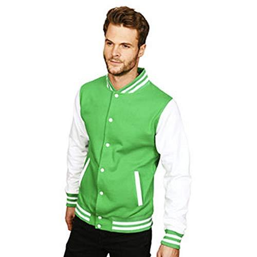 Casual Classic Mens Varsity Jacket (XL) (Kelly/White)