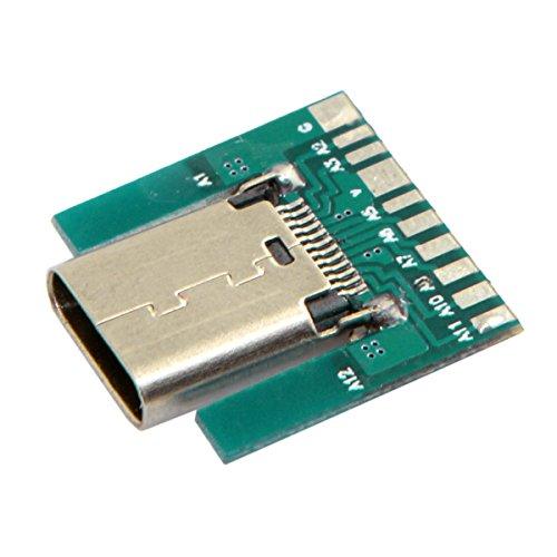jser DIY 24pin USB 3.1Typ C Buchse Stecker SMT Typ mit PC BOARD