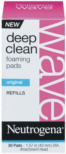 Neutrogena Wave Deep Clean Foaming Pad Refills, 30 Count (Pack of 3)