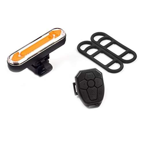 XINGYUE Luz LED recargable USB para bicicleta, luz de advertencia de seguridad, control remoto inteligente, luz de señal de giro para conducción nocturna segura