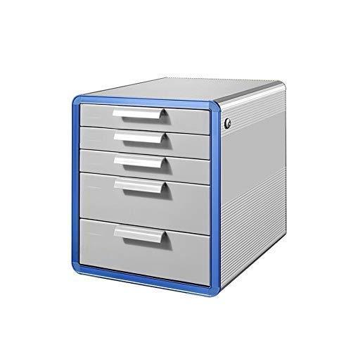 Preisvergleich Produktbild Aktenschränke,  Aluminiumlegierung Speicherfächer,  Schreibtisch Speichereinheit Organizer abschließbare Schublade Sorter A4 Box for Office (Größe: 28, 6 * 34, 6 * 25.3cm) Home Office Möbel WKY