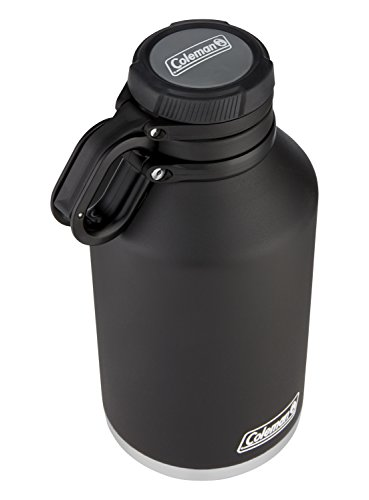 Coleman Insulated Stainless Steel Growler, Black, 64 oz.