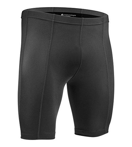 ATD Men's Pro Compression Shorts, Unpadded 8 Panel Short - Black (4XL, Black)