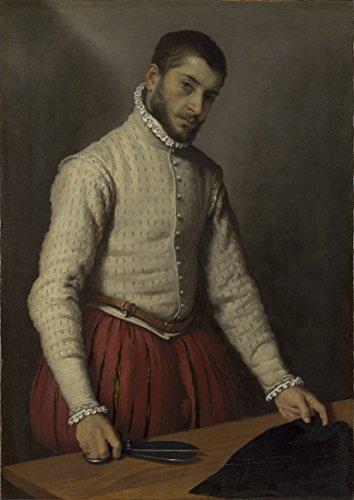 Giovanni Battista Moroni: Retrato de un Hombre (el Sastre). Fine Art Print/Póster. Tamaño Grande A1(84.1cm X 59,4cm)