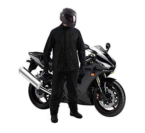 V MOBITE Raincoat Jacket Pant Heavy Duty Waterproof Windproof Raincoat with Tapping Inside Pant Rider Rainsuit BARSAATI for Biker Waterproof Raincoat Random Color Black Navy Blue Free Size XXL XXXL