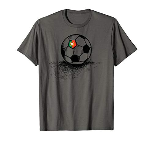 Portugal Soccer Ball Flag Jersey Shirt - Portuguese Football