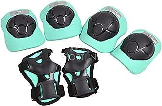 Beschermingsset Beschermende uitrusting Set Protector Kniebeschermers Inline Skates XS-L Roze Zwart Mint H210 (Mint, M)