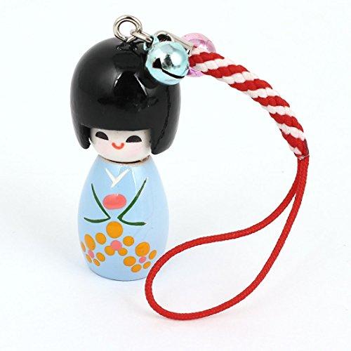 Sourcingmap® Japanische Kokeshi Puppe-Anhänger Glocke, rot für Smartphones/MP3-Player de