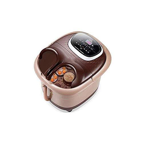 Masajeador baño SPA para pies con Spray térmico Burbujas, Bola Masaje Shiatsu eléctrica, Control Digital Tiempo y Temperatura Ajustable, Ducha Lluvia y Pantalla táctil LED