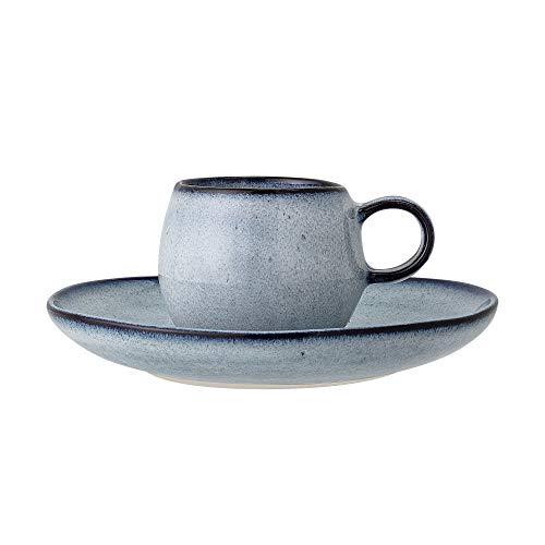 Bloomingville Espressotasse mit Untertasse Sandrine, blau, Keramik