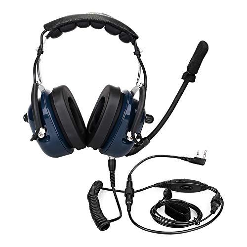 Retevis Funkgerät Headset, Ohrhörer Rauschunterdrückung Kompatibel mit Baofeng UV5R BF-88E BaoFeng BF-888S eSynic RT24 RT27 Walkie Talkie Militär Antilärm Over Ear Headset (1 STK.)
