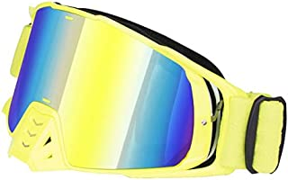 Sunglasses Fashion Accessories Dust and Sand Off-Road Motorcycle Goggles Glasses UV (Color : Yellow)
