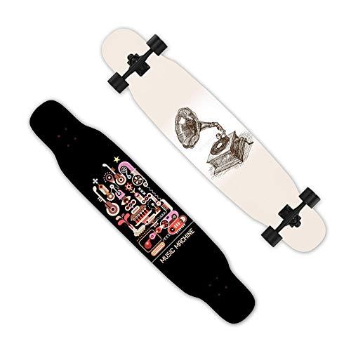 HAGUOHE Skateboard Longboard, tabla de baile principiante, tabla profesional, calle de doble giro de cuatro ruedas Scooter de carretera, niños y niñas adolescentes
