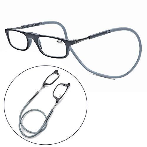 G.T.P.G Magnetische Hängender Hals Lesebrille, Unisex-Lesegerät, Tragbare Magnet-Brille, Versenkbares Design