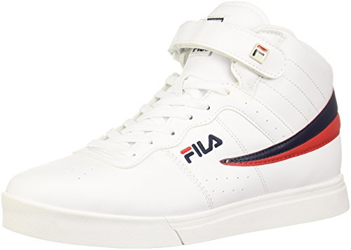 Fila Men's Vulc 13 MID Plus 2 Walking Shoe, White Navy red-150, 12 D US