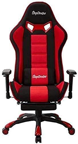 ZWWZ Barhocker Dreh Stuhl- Bürostuhl Gaming Stuhl, Home Office Computer-Racing Exclusive Swivel Leder Stuhl mit Lehnstuhl und Fußstützen (Farbe: Rot, Größe: H (42-53) cm) HAIKE (Color : Red)