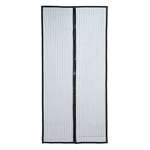 Magnetic Screen Door Magnetic Soft Screen Door Stripe Curtain Anti-Mosquito Door Curtain Without Magnetic Stripe Summer Encryption Screen Window Curtain/Black