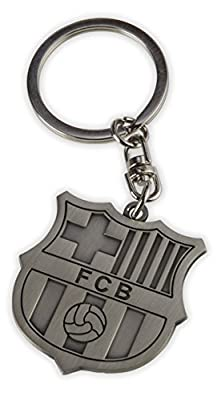 FC Barcelona Metal Keychain Keyring Key Ring Key Chain - Official FCB Merchandise - Makes a Great Gift Souvenir (Metal)