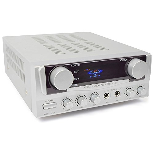 Skytronic 103.102 2.0 Haus Verkabelt Silber - Audioverstärker (2.0 Kanäle, 50 W, 100 W, Polklemme, 280 mm, 220 mm)