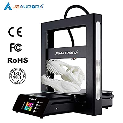 JGAURORA A5S Industrial 3D Printer Metal Frame Flexible Glass Bed Home Diy Printer for PLA ABS Larger Model Size 305*305*320mm