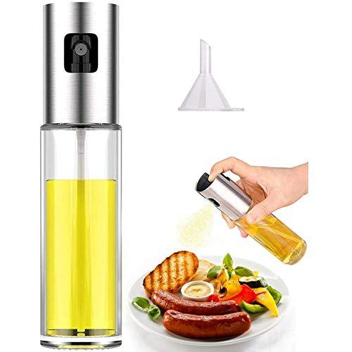 Olive Oil Sprayer for Cooking, Oil Dispenser Mister Oil Spray Bottle for Kitchen Air Fryer BBQ Salad Baking Roasting Grilling 100ml (3.4-Ounce)