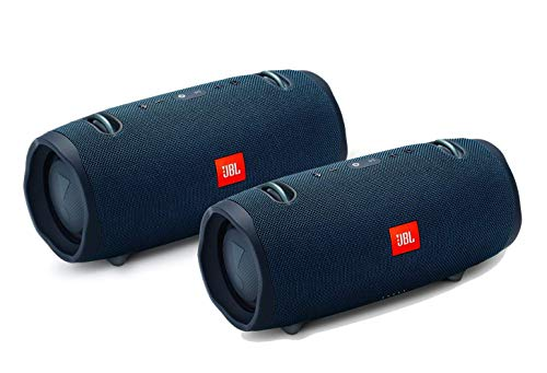 JBL Xtreme 2 Portable Wireless Bluetooth Speakers - Pair (Blue)