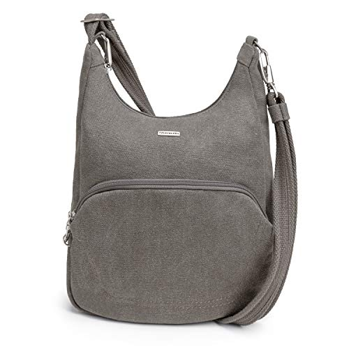 Travelon Anti-Theft Classic Essential Messenger Bag, pewter, One Size