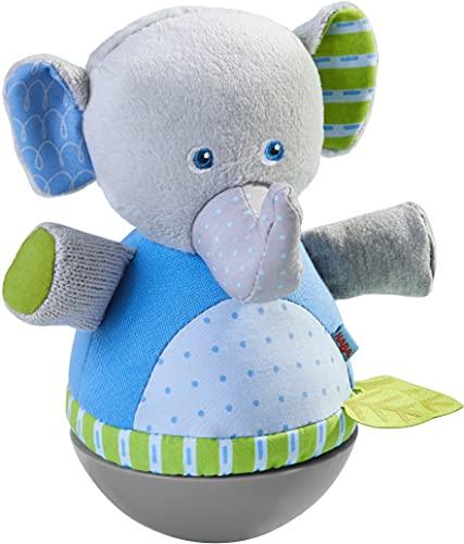HABA 305824 - Stehauffigur Elefant, Stehauffigur ab 6 Monaten