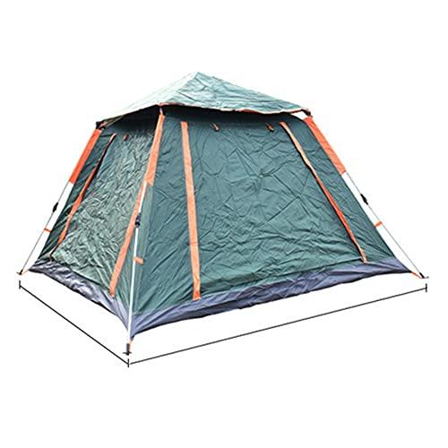 MFXI 4/6 Personenzelt, Familienzelte für Camping, Wasserbeständigkeit, leichte, dauerhafte 190T-Polyestergewebe, dauerhafte Fiberglas-Pole,Grün
