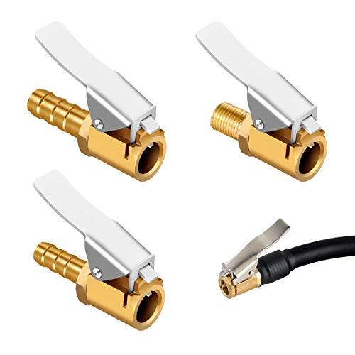 HONGECB 3 Piezas Boquillas Inflado Neumático Boquilla Inflador Abrazadera Válvula, Conector De Válvula De Inflado para Neumático De Coche, Camión y Muchos Más, 3 Modelo, 6mm, 7.5mm, 8mm