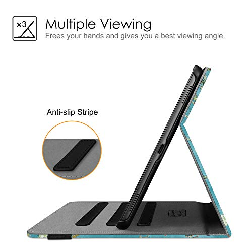 Fintie Hülle für Samsung Galaxy Tab A 10,1 2019 - Multi-Winkel Betrachtung Kunstleder Schutzhülle mit Dokumentschlitze für Samsung Tab A 10.1 Zoll SM-T510/T515 2019 Tablet, Mandelblüten