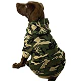 dog hoodie in cotton camo