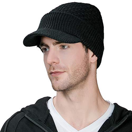 帽子 メンズ ニット帽 ニットキャップ キャスケット つば付き 秋冬 ウール 小顔 フリーサイズ 大...