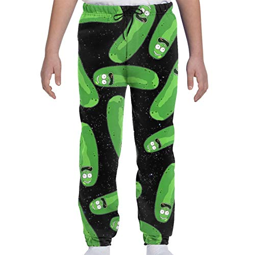 LAOLUCKY R-ick and Mor-ty Pickle R-ick Teenager Sweatpants Drawstring Fashion Sweatpant with Pockets