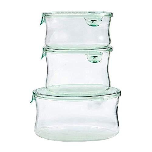 Fiambrera Caja de almuerzo;Resistente al calor, caja de almacenaje de cristal;Horno de Microondas, Frigorífico caja de almuerzo;Vidrio fresco de mantenimiento ofrece una solución Fiambrera, Bento almu