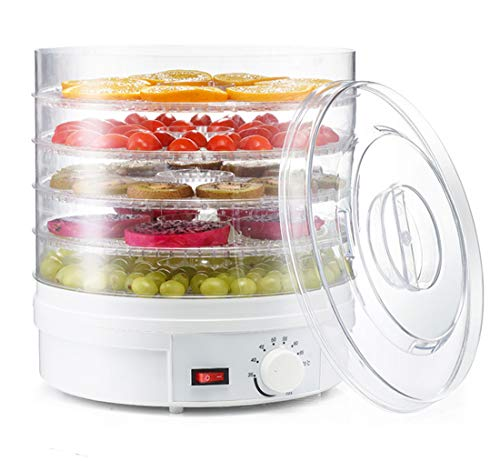 Sale!! Electric 350W Food-Dehydrator Machine-Countertop - with 5 Trays for Fruit Vegetable Meat Beef...