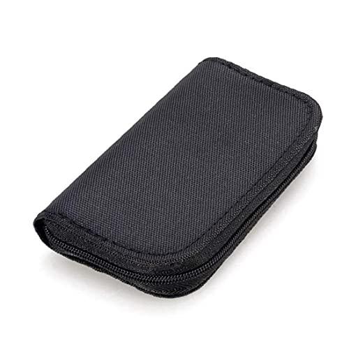 YepYes 22 Slots Speicherkarten-Tasche wasserdicht SD-Kartenhalter-Tragetasche Kompatibel mit Micro SDHC SDXC TF SIM-CF-Karte-Schwarz