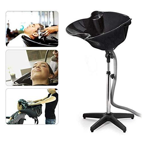 WXDP Rollstuhl mit Selbstfahrer, tragbares Haarwaschbecken, höhenverstellbar, Shampoo-Waschbecken, Haarschale, Friseursalon, Waschbecken für Friseursalon, Bea