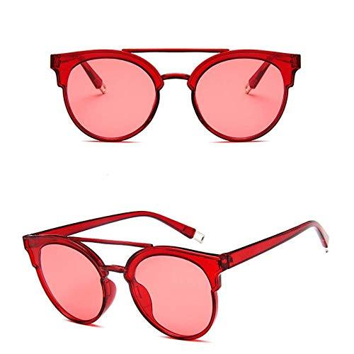 zxldsjhd Intage Butterfly Gafas de sol Mujer Luxury Plastic Lente del océano Gafas de sol Classic Retro Outdoor @ Red