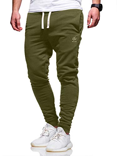 JACK & JONES Herren Jogginghose Sweat Pants Trainingshose Freizeithose Joggers Streetwear (Small, Olive Night)
