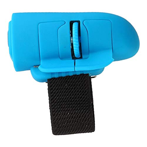 H HILABEE Ratón Inalámbrico USB para Dedos con Bluetooth Y Trackball para PC Portátil - Azul