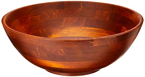 Lipper International Cherry Finished Footed Serving Bowl for Fruits or Salads, Large, 13.75' Diameter x 5' Height, Single Bowl
