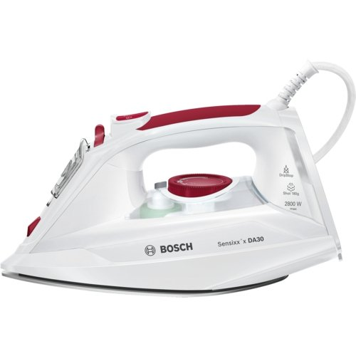 Bosch Sensixx'x DA30Dry & Steam Iron ceramicglide Soleplate 2800W White–Irons (Dry & Steam Iron, ceramicglide Soleplate, 2m, 40g/min, white, 0.3, 0.32)