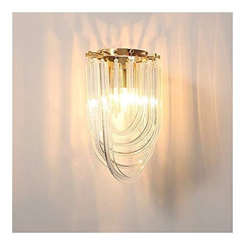 HJXSXHZ366 Retro mini wandlamp Woonkamer slaapkamer hoofd Creativ gang muur lampenkap koperen lamp een U-vormige glazen lamp moderne minimalistische persoonlijkheid E14 lamp Backdrop